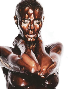 Heidi Klum in Chocolate